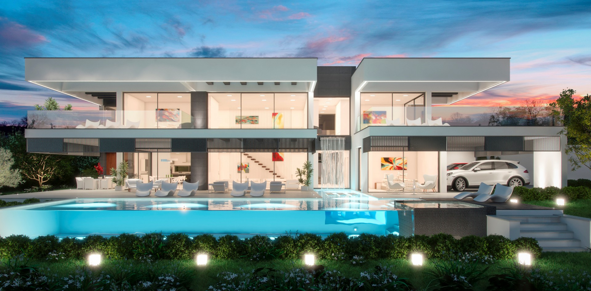 Los belvederes 21a global estate international for Villa de luxe contemporaine