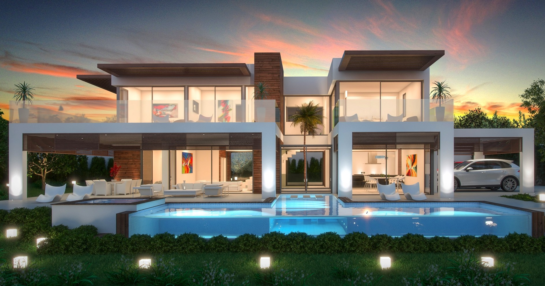 Los belvederes 36a global estate international for Villa de luxe moderne
